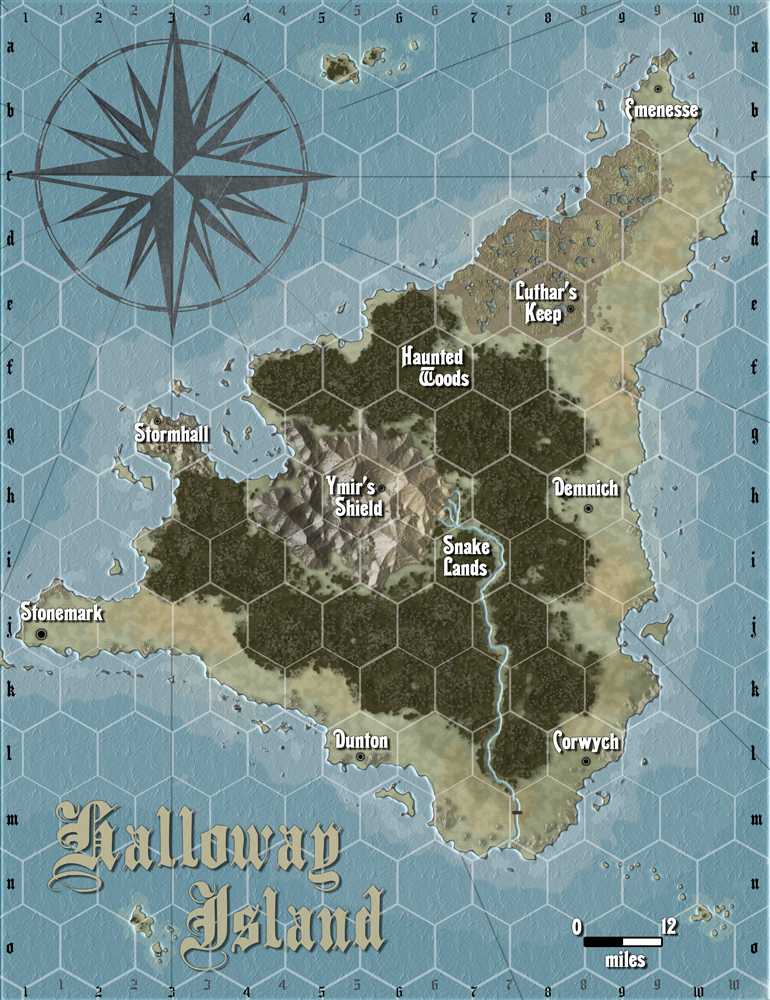 Map for a private game for customer.