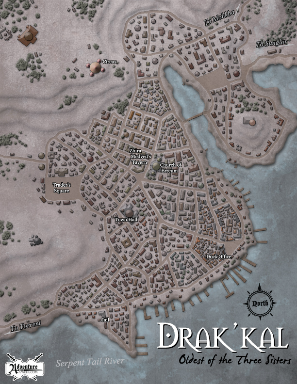 """For Adventure a Week """"Disaster in Drak´kal"""" (c) AAW Games LLC"""